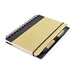 AGENDA NOTES PERSONALIZATA ECO FRIENDLY CU PIX NEGRU