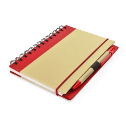 AGENDA NOTES PERSONALIZATA ECO FRIENDLY CU PIX ROSU