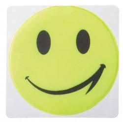 AUTOCOLANT IMPRIMAT REFLECTORIZANT SMILEY VERDE