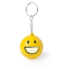 BRELOC ANTISTRES PERSONALIZAT DESIGN SMILEY FACE HAPPY GALBEN