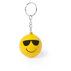 BRELOC ANTISTRES PERSONALIZAT DESIGN SMILEY FACE FASHION GALBEN
