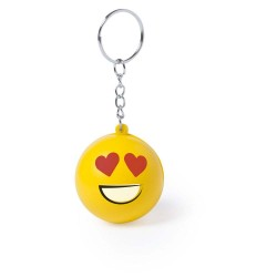 BRELOC ANTISTRES PERSONALIZAT DESIGN SMILEY FACE ELATED GALBEN