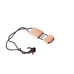 USB LEMN PERSONALIZAT CU SNUR 16GB MOIVA NATUR