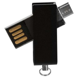 BRELOC USB METALIC PERSONALIZAT 16GB MELGACO NEGRU