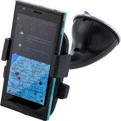 SUPORT TELEFON AUTO PERSONALIZAT DESIGN AJUSTABIL BARATILI NEGRU