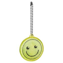 BRELOC REFLECTORIZANT PERSONALIZAT DESIGN SMILEY FACE ALME GALBEN