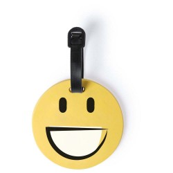 ETICHETA BAGAJE PERSONALIZATA DESIGN SMILEY FACE HAPPY GALBEN