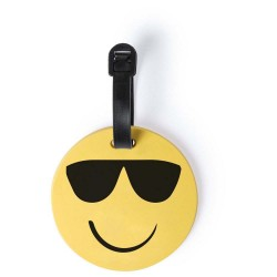 ETICHETA BAGAJE PERSONALIZATA DESIGN SMILEY FACE FASHION GALBEN