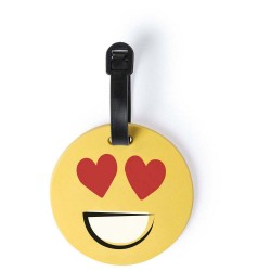 ETICHETA BAGAJE PERSONALIZATA DESIGN SMILEY FACE ELATED GALBEN
