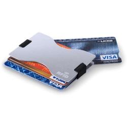 SUPORT CARDURI PERSONALIZAT CU PROTECTIE RFID VIANA ARGINTIU
