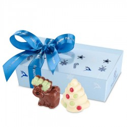 BOMBOANE BELGIENE PERSONALIZATE CHRISTMAS MINI BALLOTIN LIGHT BLUE NO.3