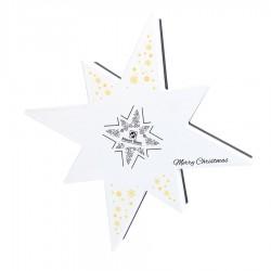 BOMBOANE BELGIENE CHRISTMAS FALLING STAR WHITE