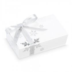 BOMBOANE BELGIENE CHRISTMAS MINI BALLOTIN WHITE SNOWFLAKES NO.3