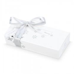 BOMBOANE BELGIENE CHRISTMAS MINI BALLOTIN WHITE SNOWFLAKES NO.4
