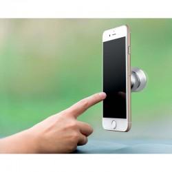 SUPORT AUTO TELEFON DESIGN MAGNETIC CARAPELE ARGINTIU