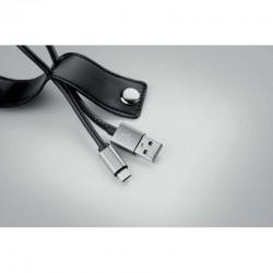 BRELOC PERSONALIZAT CU CABLU USB CANAZEI NEGRU