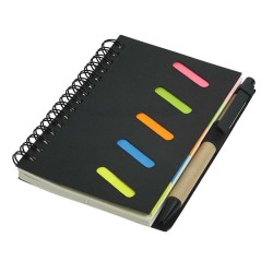 NOTES A6 CU PIX SI STICKY NOTES RECORD NEGRU
