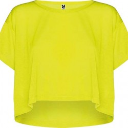 TOP OVERSIZE CELLA, GALBEN FLUORESCENT