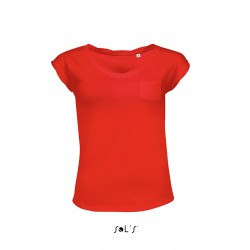 TRICOU ACTIVE MODE DAMA ROSU