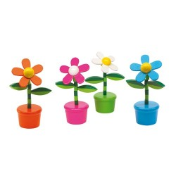 FIGURINE LEMN FLOWER POWER