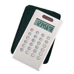 CALCULATOR PERSONALIZAT SLIM DUAL POWER 8 DIGITS GRI