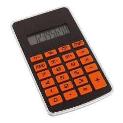 CALCULATOR PERSONALIZAT 8 DIGITS TOUCHY NEGRU/PORTOCALIU