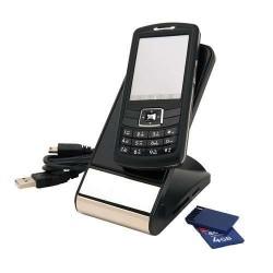 SUPORT TELEFON MOBIL CU CARD READER EDEN NEGRU