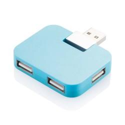 HUB USB 2.0 CU PATRU PORTURI MULTIPLE ALBASTRU