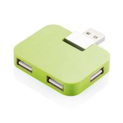 HUB USB 2.0 CU PATRU PORTURI MULTIPLE VERDE