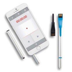 LASER POINTER CU USB 4GB, TOUCH PEN SI PIX COMPLETE TECH ALBASTRU